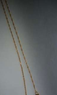 Gold Italian necklace 22inches 14k