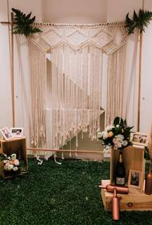 Rustic Macrame backdrop for wedding / photobooth