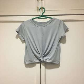 Gray stylish top