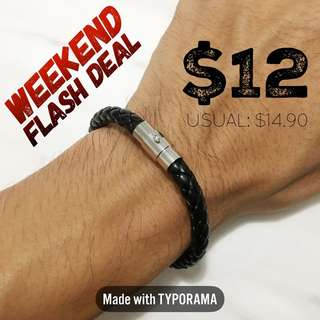 WEEKEND FLASH DEAL! Black Woven Bracelet