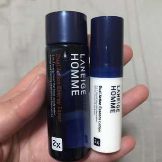 Laneige Homme Dual Action Trial Kit 2 Items