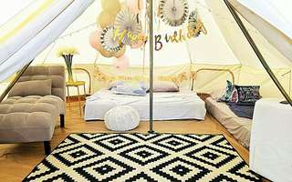 Punggol Lake: (Mon - Thu) 2D1N Staycation in an Air-Conditioned Big Bell Tent for 4 People