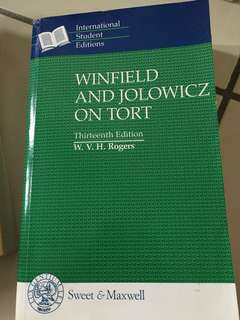 Win field and jolowicz on tort