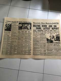 Japanese raid on Guam 1941 newspaper