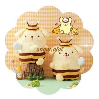 日版Bee造型布甸狗公仔☆BIG! 日本限定 Sanrio/Pompompurin/布丁狗/蜜蜂/plush/soft toy/kids doll