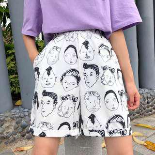 Ulzzang Printed Pants