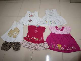5 set Baby Girl Dress for RM10