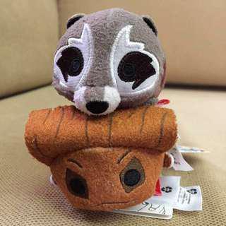 🚚 Disney Marvel Groot & Rocket Raccoon Guardians of the Galaxy Mini Tsum [In Stock]