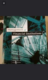 brand new management of financial institutions 2nd edition