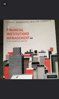 brand new financial institutions management 4e