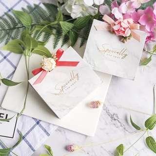 Premium Marble Print Wedding Gift Mini Bag Packaging