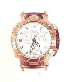 Tissot T-Race White Rose Gold