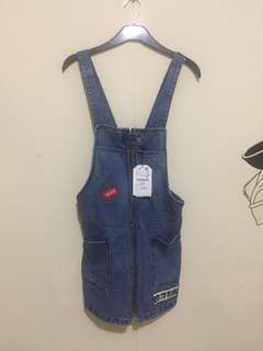 denim overall zara girls