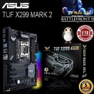 ASUS TUF X299 MARK 2 MOTHERBOARD (5 Years Warranty), + Bundle Together with Intel LGA2066/x299 CPU..., Type of CPU price shown below...