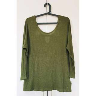🌸SALE🌸 Authentic American Eagle Military Green Top
