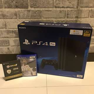 [NEW] PS4 Pro CUH-7106B + FIFA 18 Bundle