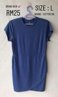 Dress / Office Wear / Blue Dress