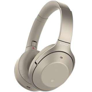 Sony WH-1000XM2 Wireless Noise Cancelling Headphones (Gold)