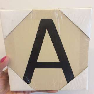Canvas Tile Letter A (mini 15x15)