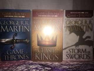 Game of Thrones 1-3 books