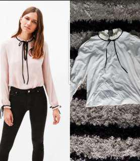 Off white blouse with bow