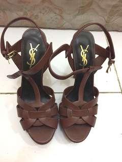 YSL heels tribute brown (high) mirror