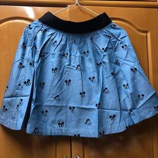 b+ab Disney Mickey Donald Duck 薄身牛仔裙 Skirt