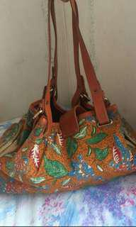 Tas batik 3 negeri mix leather