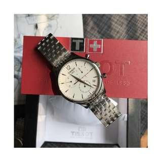瑞士品牌 Tissot T063 Watch 天梭 皮帶 男士 石英 手錶 腕錶 42mm (WT12)