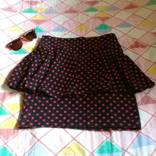 H&M polka dots pencil skirt