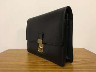Bally leather men's clutch