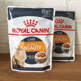 Instock   Royal Canin Intense Beauty Wet Cat Food Pouches