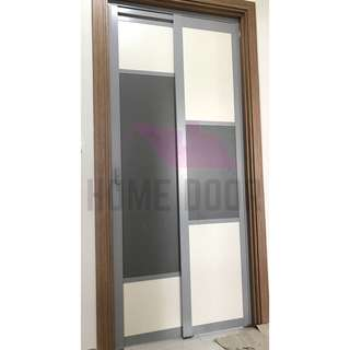 Slide & Swing bathroom door for HDB/BTO