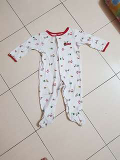 Carter christmas sleepsuit