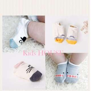 🚚 4-pair Anti-slip Striped Korean Cute Animals Socks for Baby / Toddler (0-4 yrs)