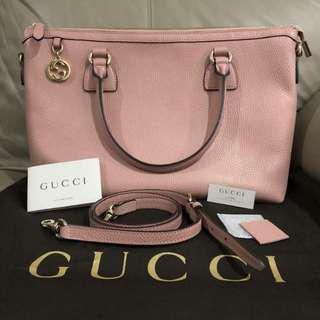 original 💯 gucci handbags ladies pink leather