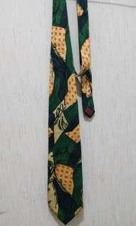 Dasi motif abstrak Tasmania hijau