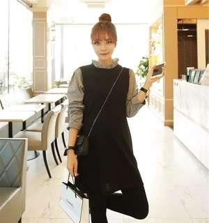 Black dress / korean dress
