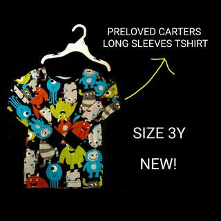 CARTERS LONG SLEEVES TSHIRT (TOP ONLY)
