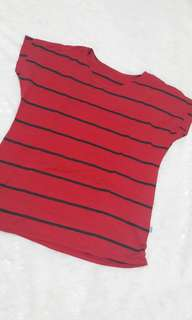 red stripe top blouse