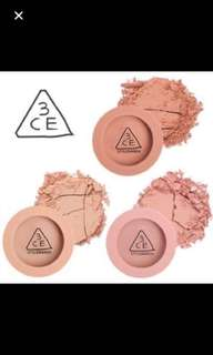 Sale* 3ce mood recipe blush assorted bnib