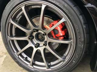 """Advan RS 17""""x8j offset +45 with 80% re71r"""