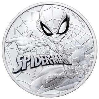 Marvel 超級英雄系列第四擊 - SpiderMan 蜘蛛俠銀幣1oz  復仇者聯盟 fans 不容錯過!