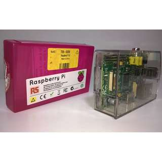 Used Raspberry Pi 1 Model B with Transparent Case
