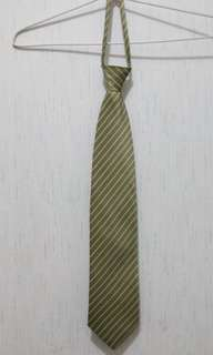 Dasi motif garis miring Cravatte hijau