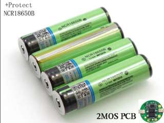 2018 Protected Original NCR18650 B 3400mAh Rechargeable Li-lon battery with PCB (per pcs)