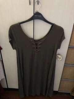 Green Criss Cross front dress