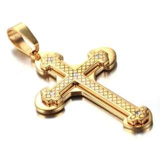 《 QBOX 》FASHION 飾品【CPAB0022】精緻個性基督教耶穌十字架鈦鋼墬子項鍊