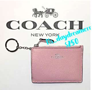 ⚡️COACH COIN PURSE WALLET MINI SKINNY CARD 櫻花🌸粉紅色散子包