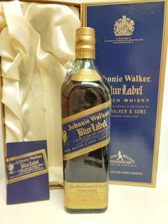 Johnnie Walker Blue Label 尊尼獲加藍牌天地盒向左走 750ml